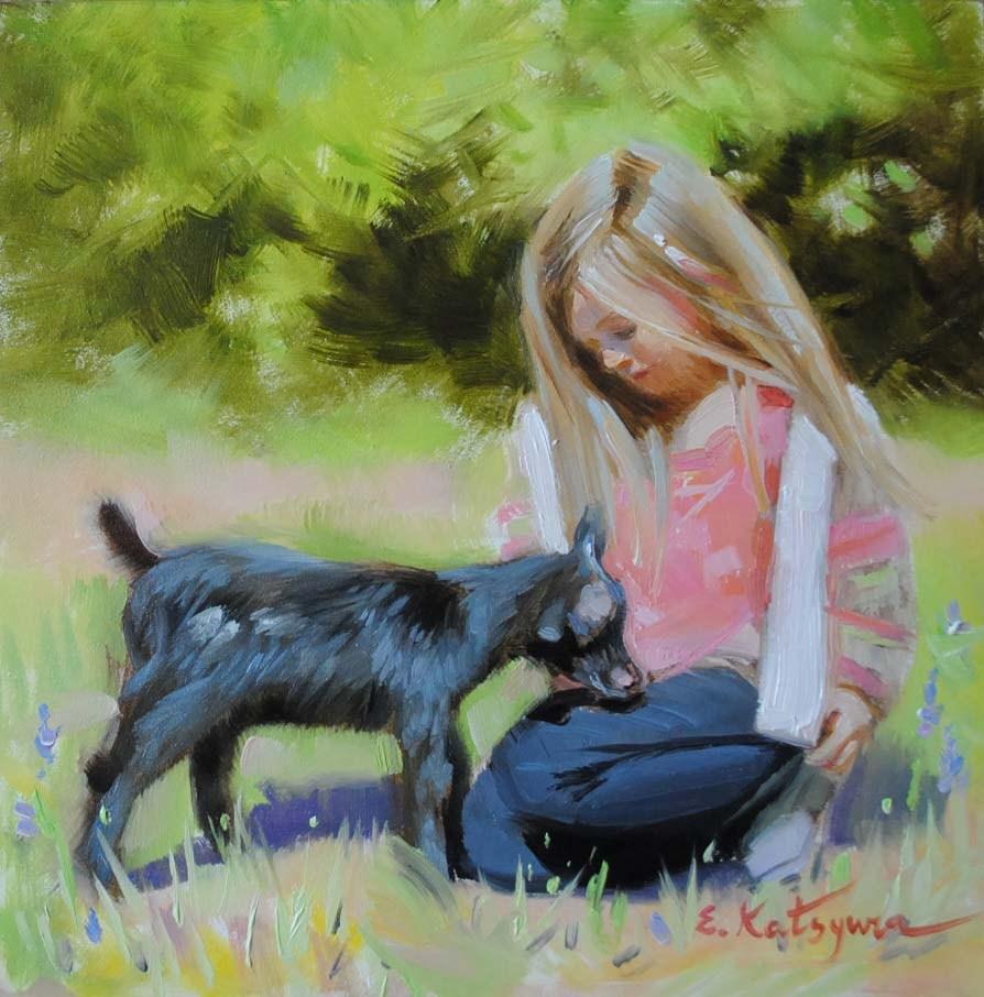"""""""Childhood"""" original fine art by Elena Katsyura"""