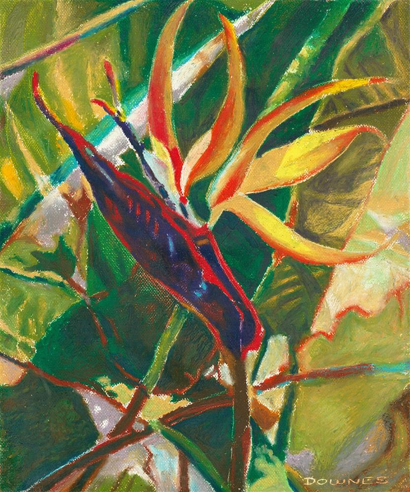 """116 STRELITZIA 2"" original fine art by Trevor Downes"