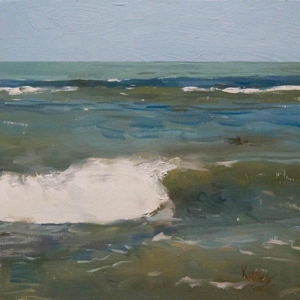"""Clear Surf"" original fine art by Randall Cogburn"