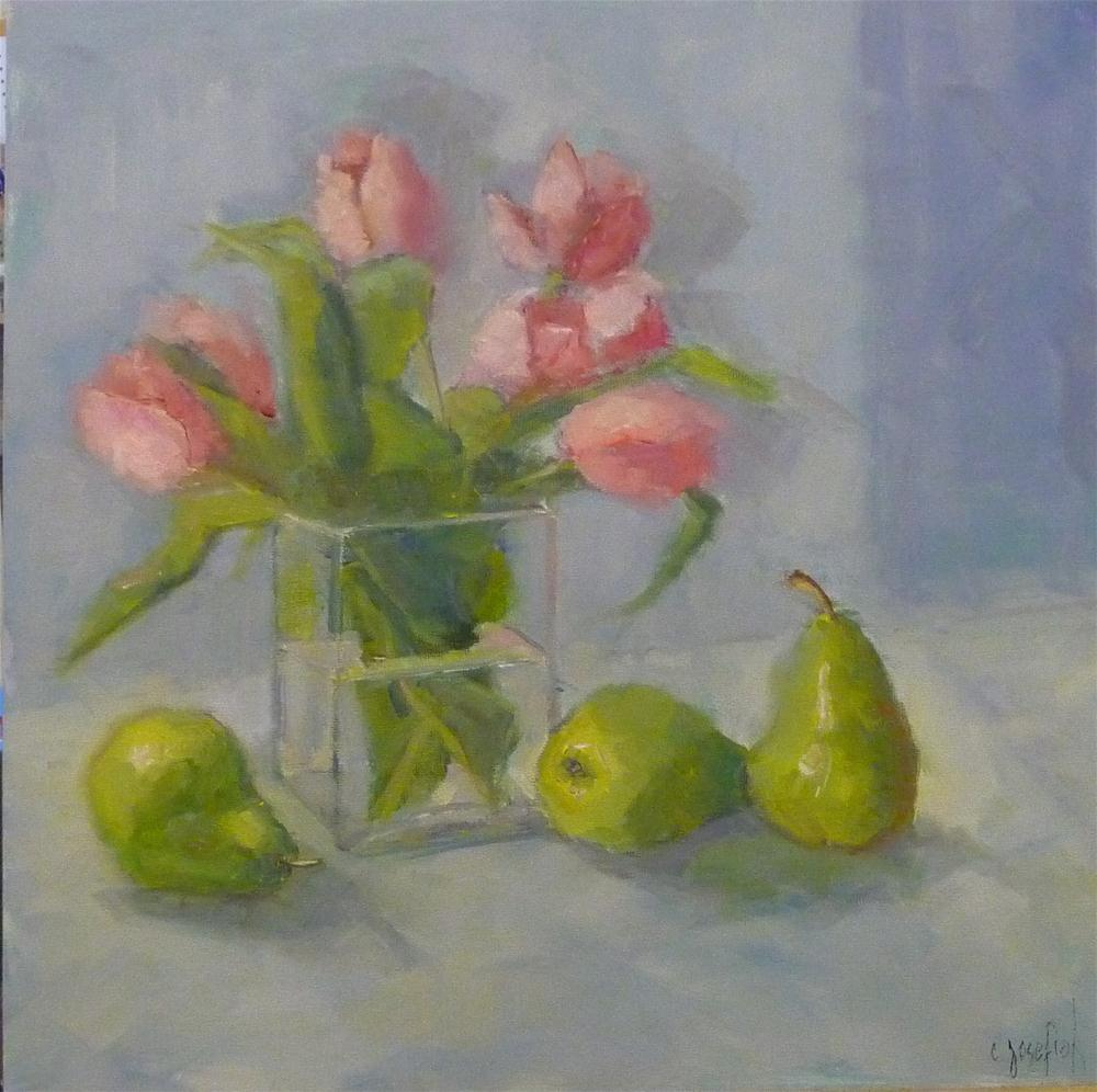"""Pink Tulips"" original fine art by Carol Josefiak"