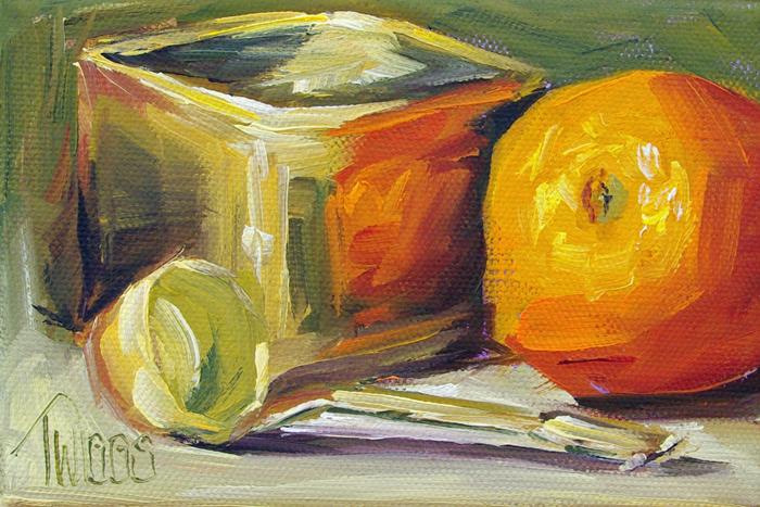 """Orange & Ladle"" original fine art by Lori Twiggs"