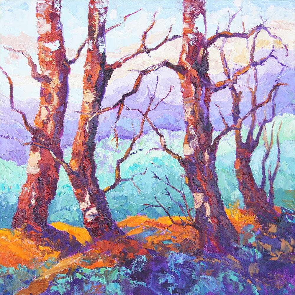 """Impressionist Provence Pines"" original fine art by Marion Hedger"