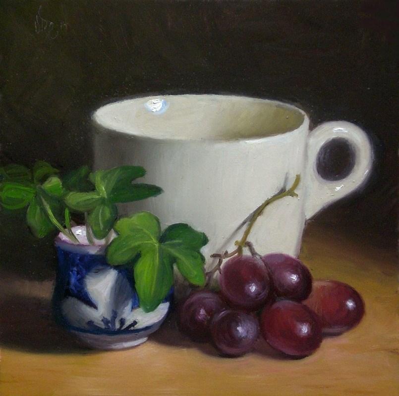 """Grapes and Ivy"" original fine art by Debra Becks Cooper"