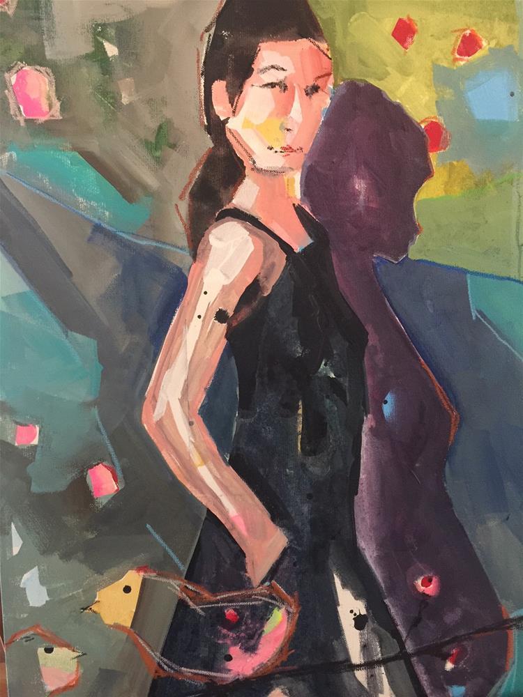 """463 Something"" original fine art by Jenny Doh"