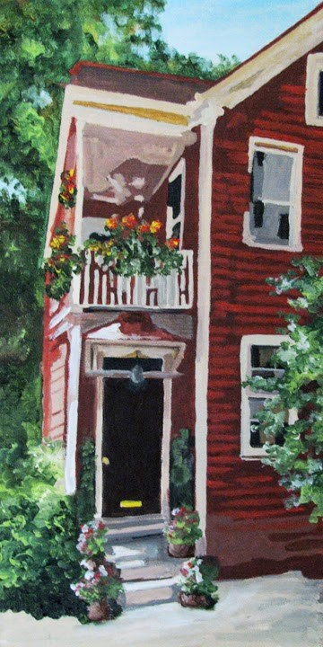 """Charleston Entryway"" original fine art by Nan Johnson"