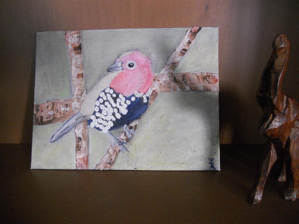 """Pink Throated Twinspot No.1"" original fine art by Pamela Ross"