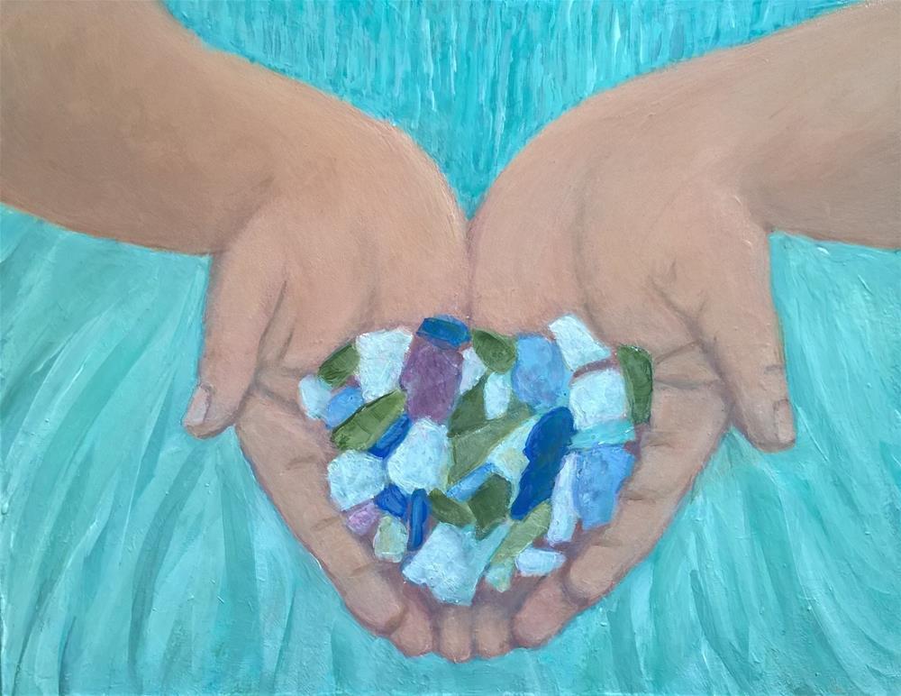 """""""Sea glass"""" original fine art by Joan Matero"""