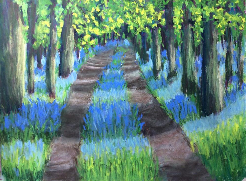"""Lavender Forest"" original fine art by Sharon Cullen"