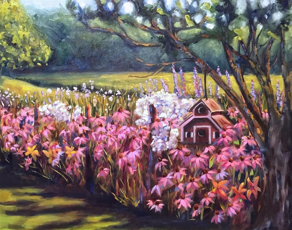 """""""Jenny's Garden"""" original fine art by Rachel Fogle"""