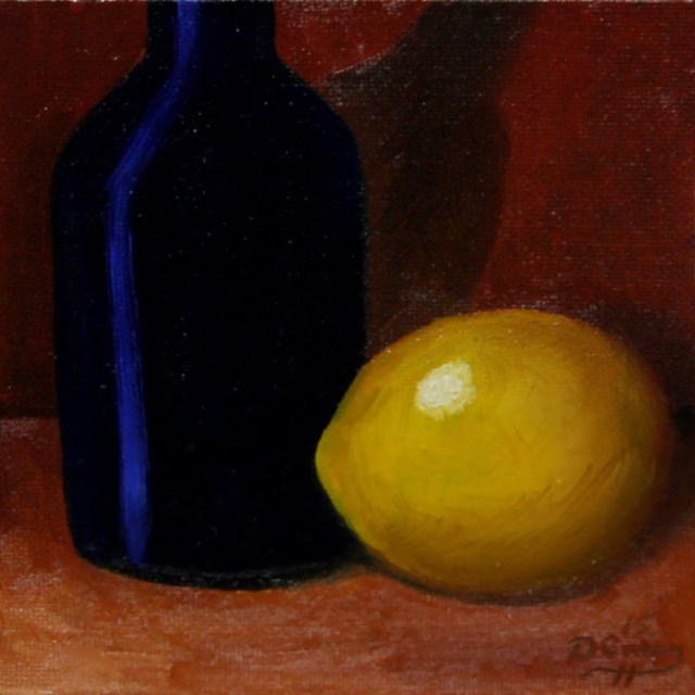 """30-in-30 Challenge – Day 13 – Lemon Blues"" original fine art by Dave Casey"
