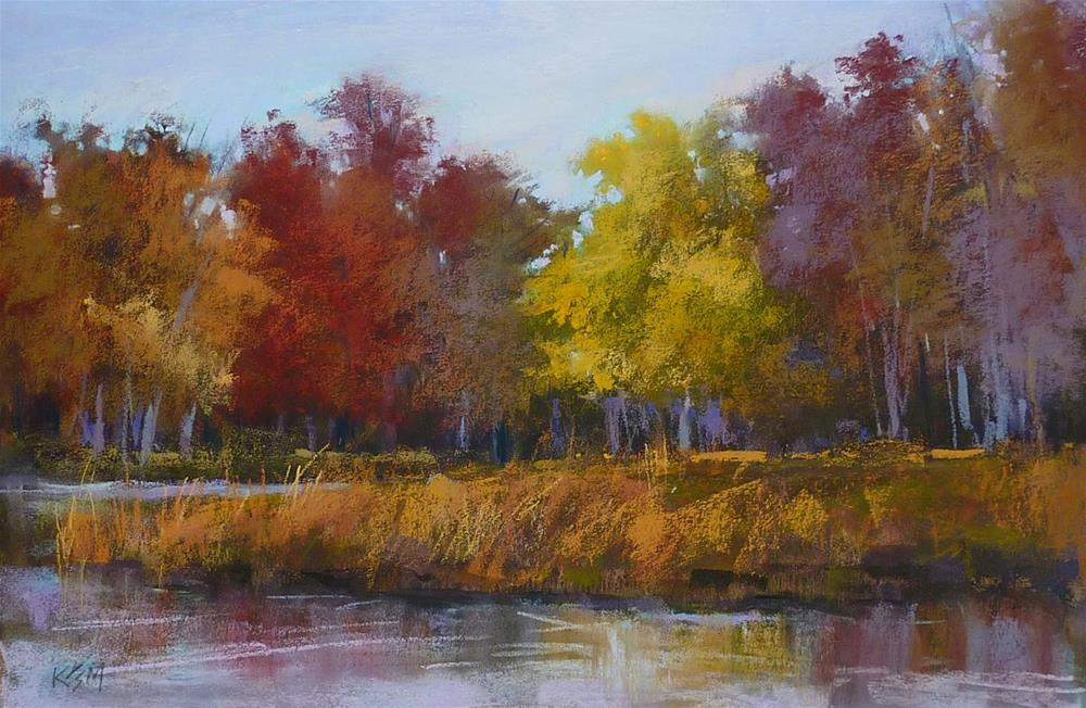 """Changing the Mood of a Landscape Painting"" original fine art by Karen Margulis"