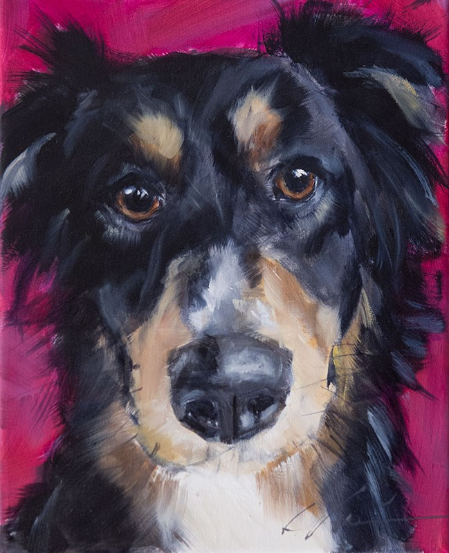 """PAINT MY DOG #10"" original fine art by Clair Hartmann"