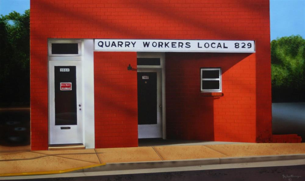 """Quarry Workers Local"" original fine art by Fred Schollmeyer"