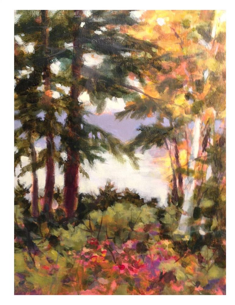 """Maine Coast Fall"" original fine art by Suzanne Woodward"