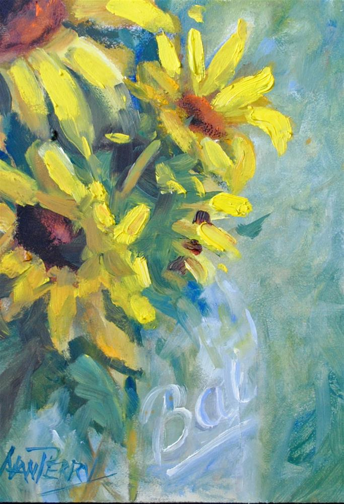 """Sun in a Jar"" original fine art by Nan Perry"