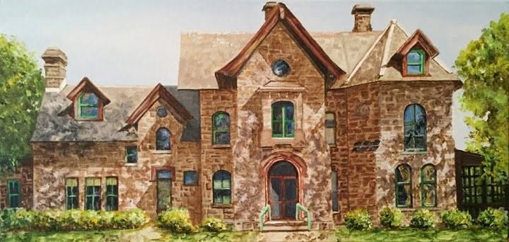 """""""Stately Home"""" original fine art by Nan Johnson"""