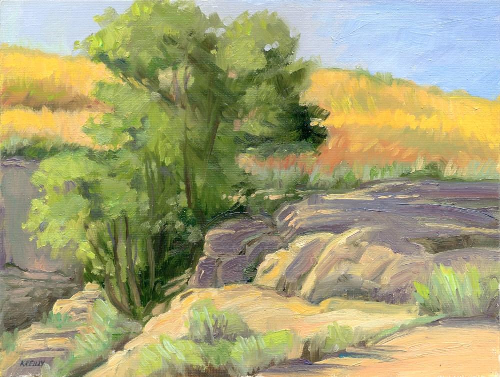 """Sandstone Quarry"" original fine art by Kath Reilly"