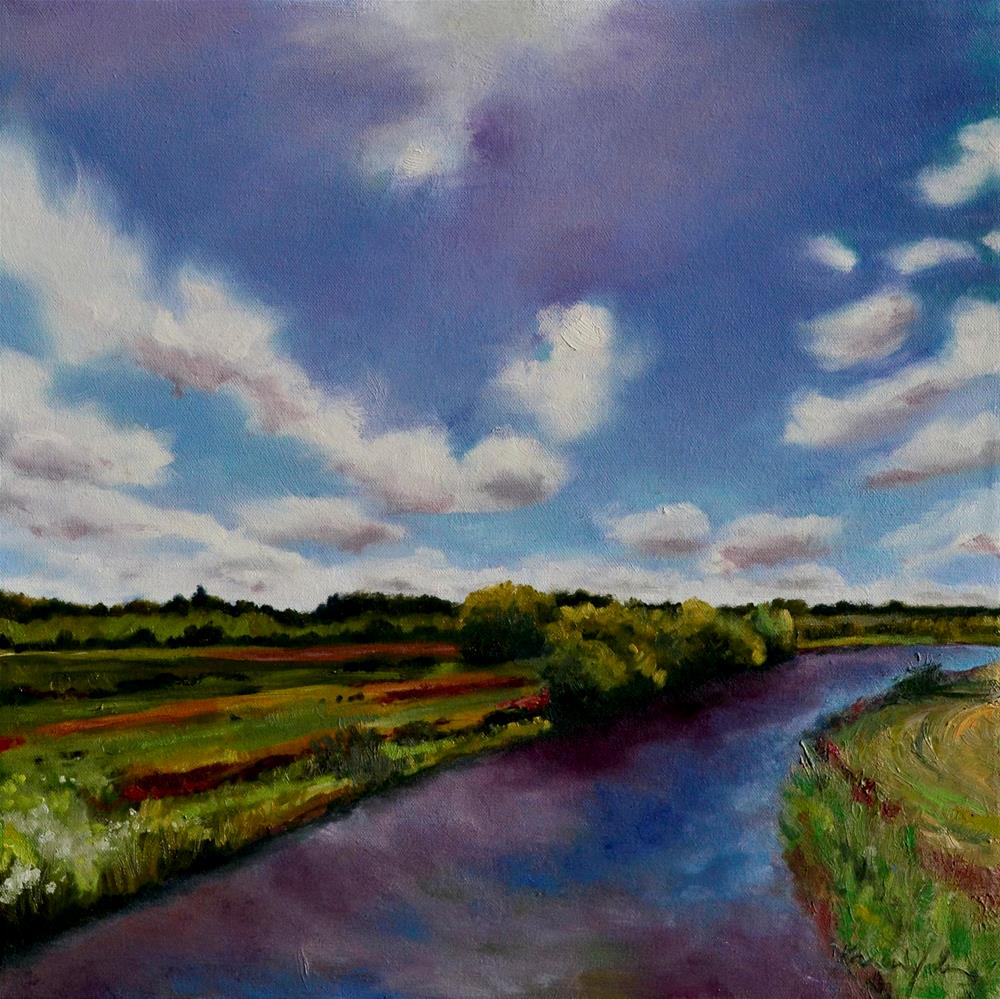 """The River Clare"" original fine art by Karen Weber"