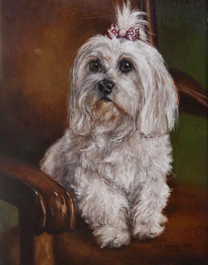 """""""Abby"""" original fine art by Sue Deutscher"""