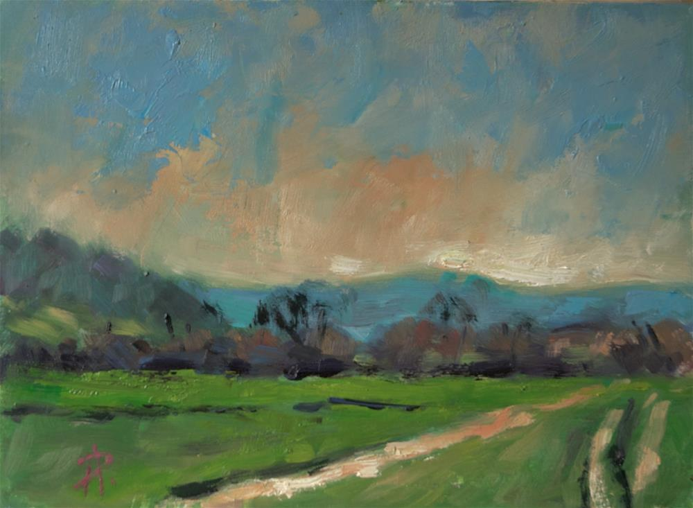 """""""Hills and Track at Storrington"""" original fine art by Andre Pallat"""