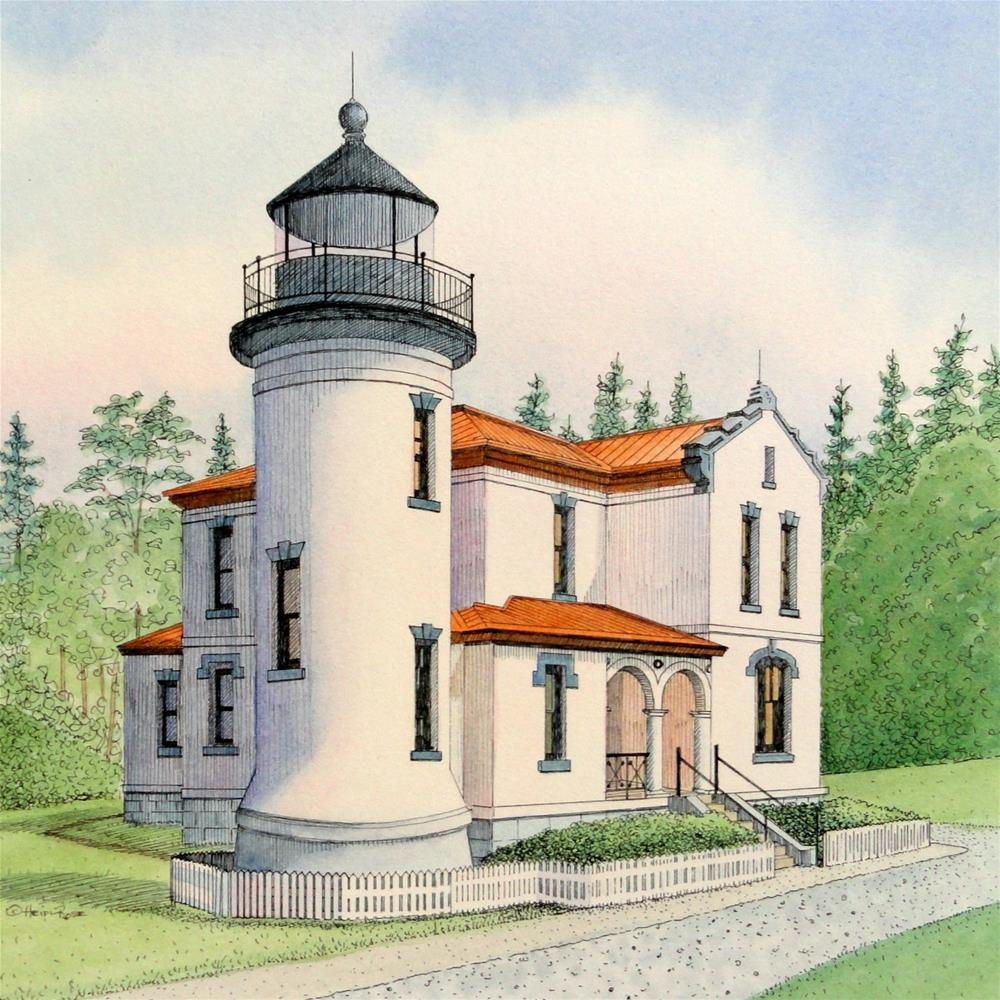 """Admiralty Head Light"" original fine art by Heidi Rose"