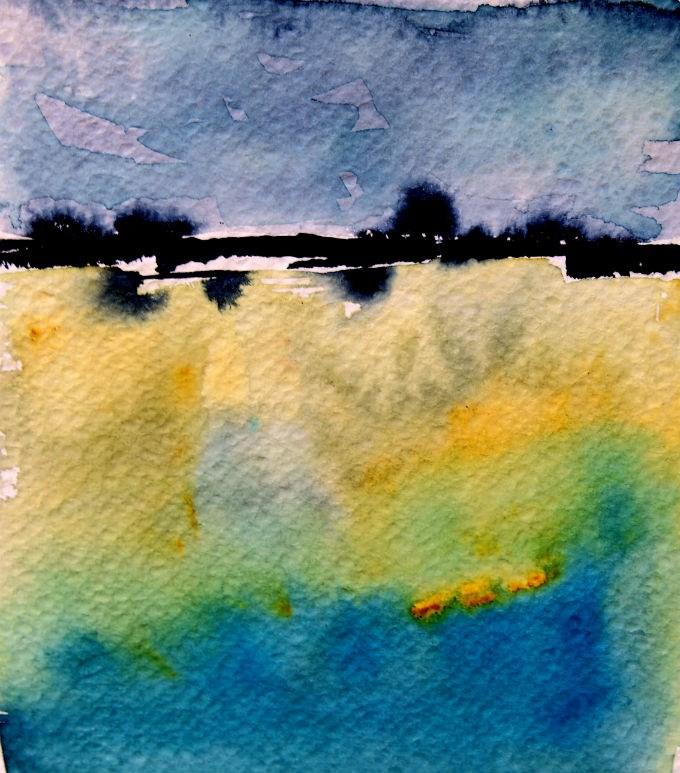 """Distant Tree Line"" original fine art by Amy Bryce"