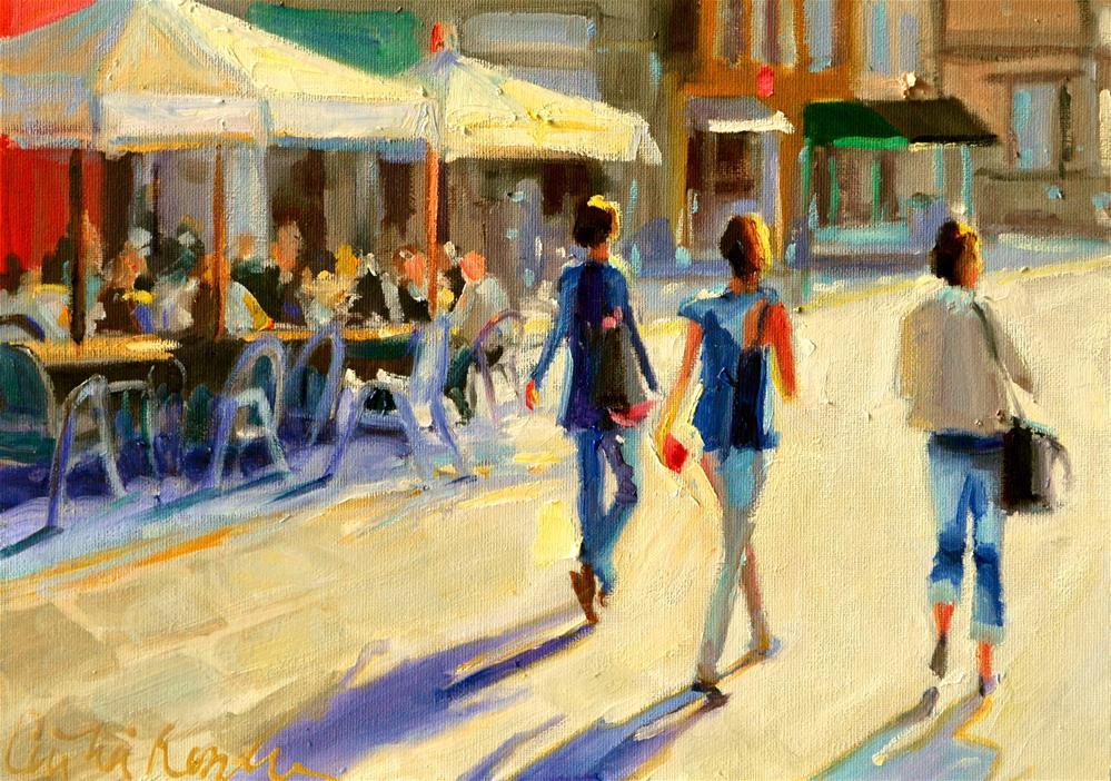 """""""ITALIAN SIDEWALK"""" original fine art by Cecilia Rosslee"""