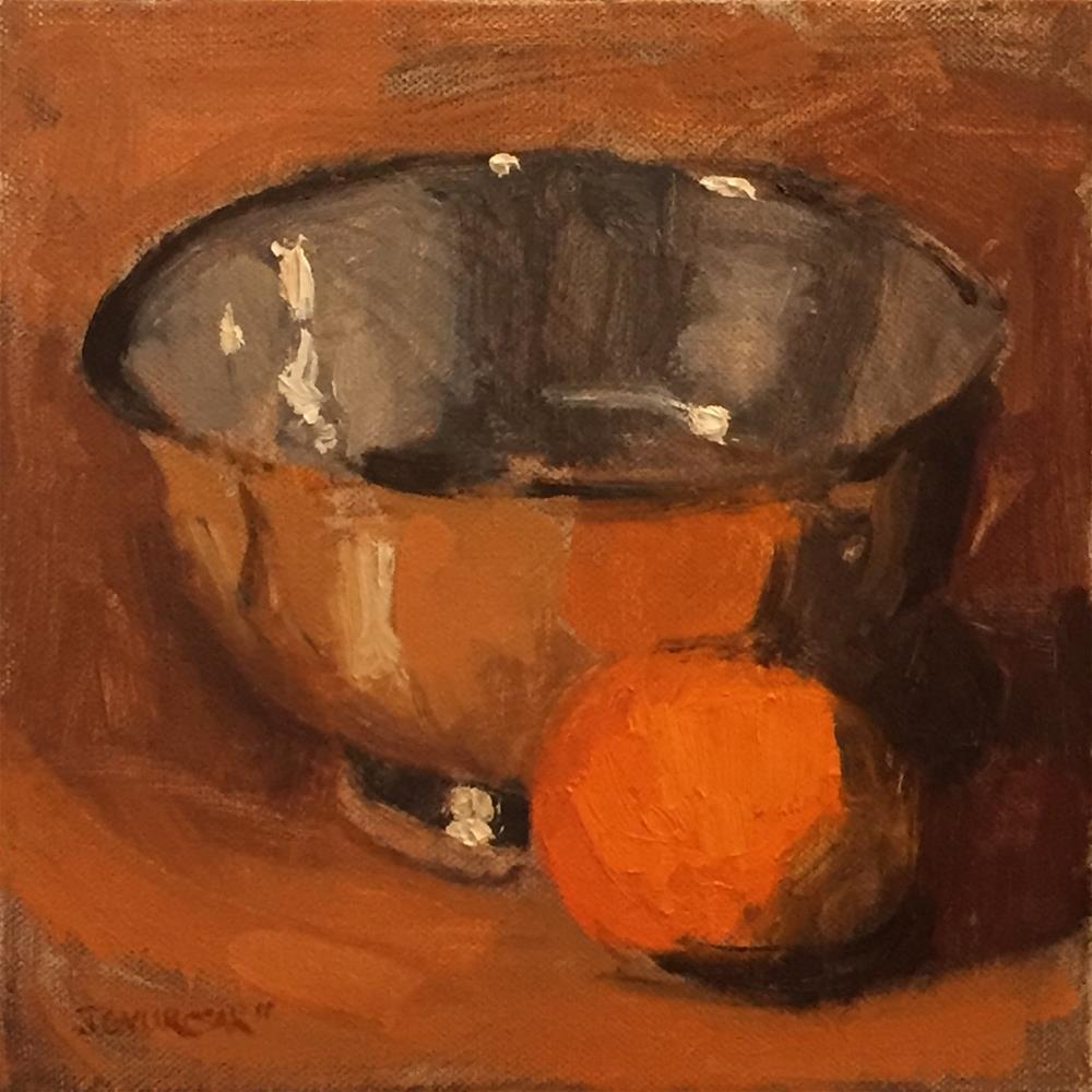 """orange1. still life"" original fine art by Joe Gyurcsak"
