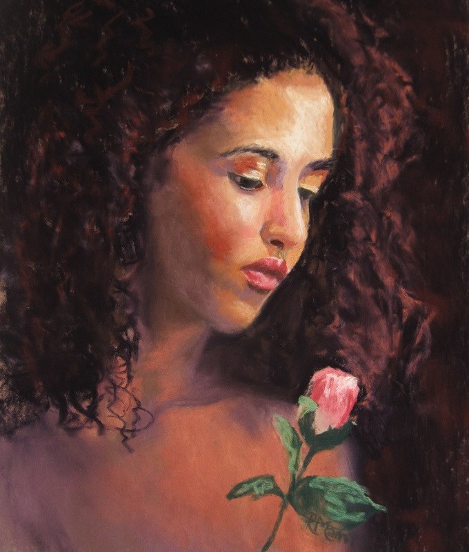 """Rose"" original fine art by Ruth Mann"