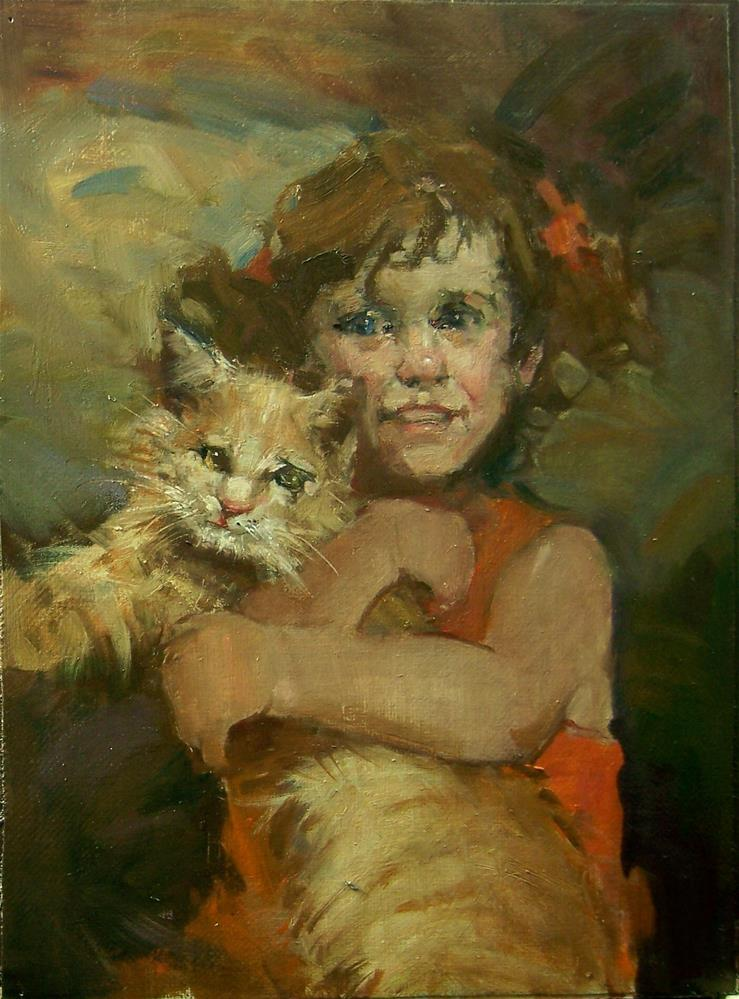"""I'm The Mommy"" original fine art by Kim Roberti"