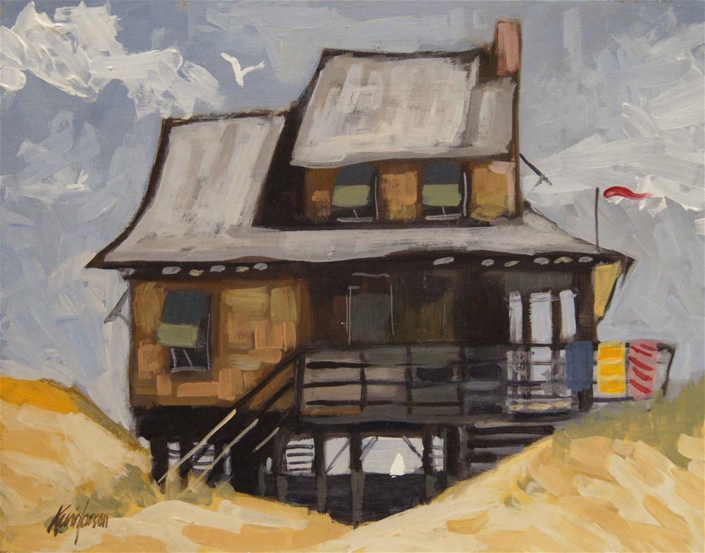 """Beach Cottage 11"" original fine art by Kevin Larson"