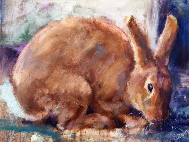 """""""Red Rabbit"""" original fine art by Jenny Buckner"""