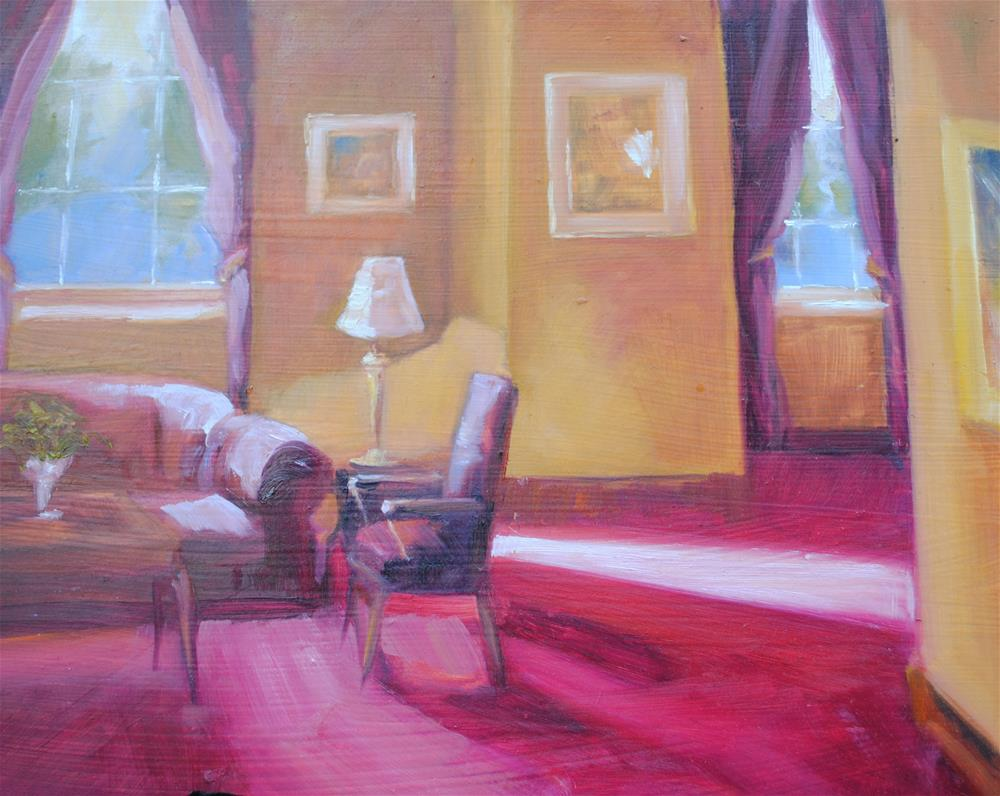 """Collie's Room"" original fine art by Nan Perry"