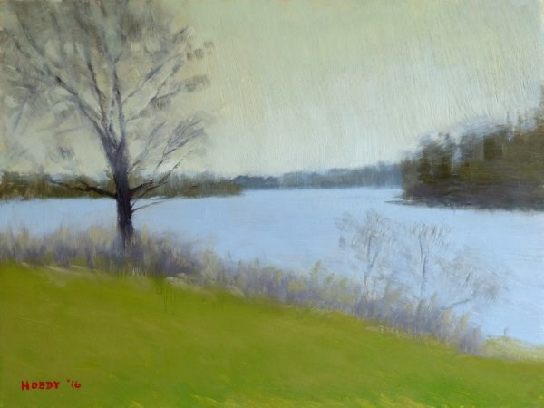 """Mississippi River at Pokegama Dam 2"" original fine art by Weston Hobdy"