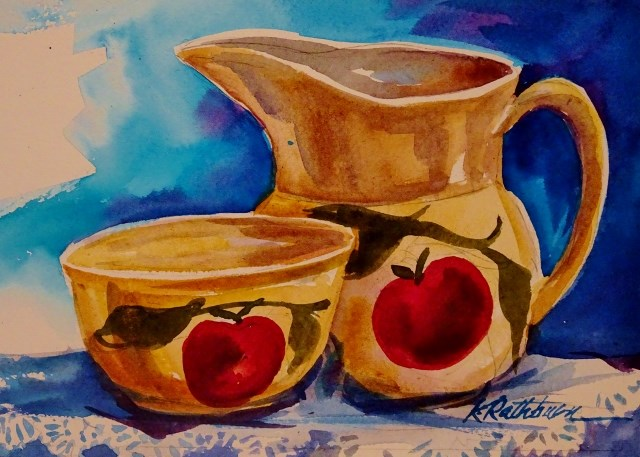 """Gramma's Treasures"" original fine art by Kathy Los-Rathburn"