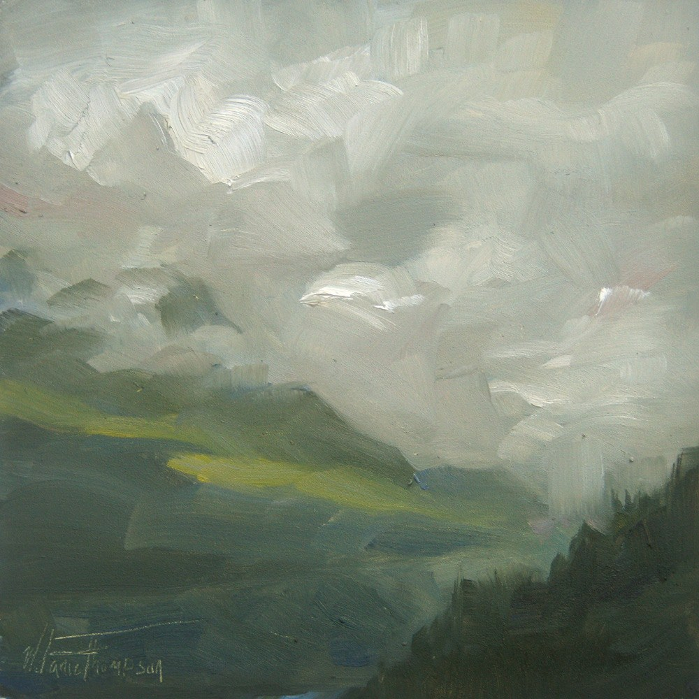 """Snoqualmie Clouds"" original fine art by Melanie Thompson"