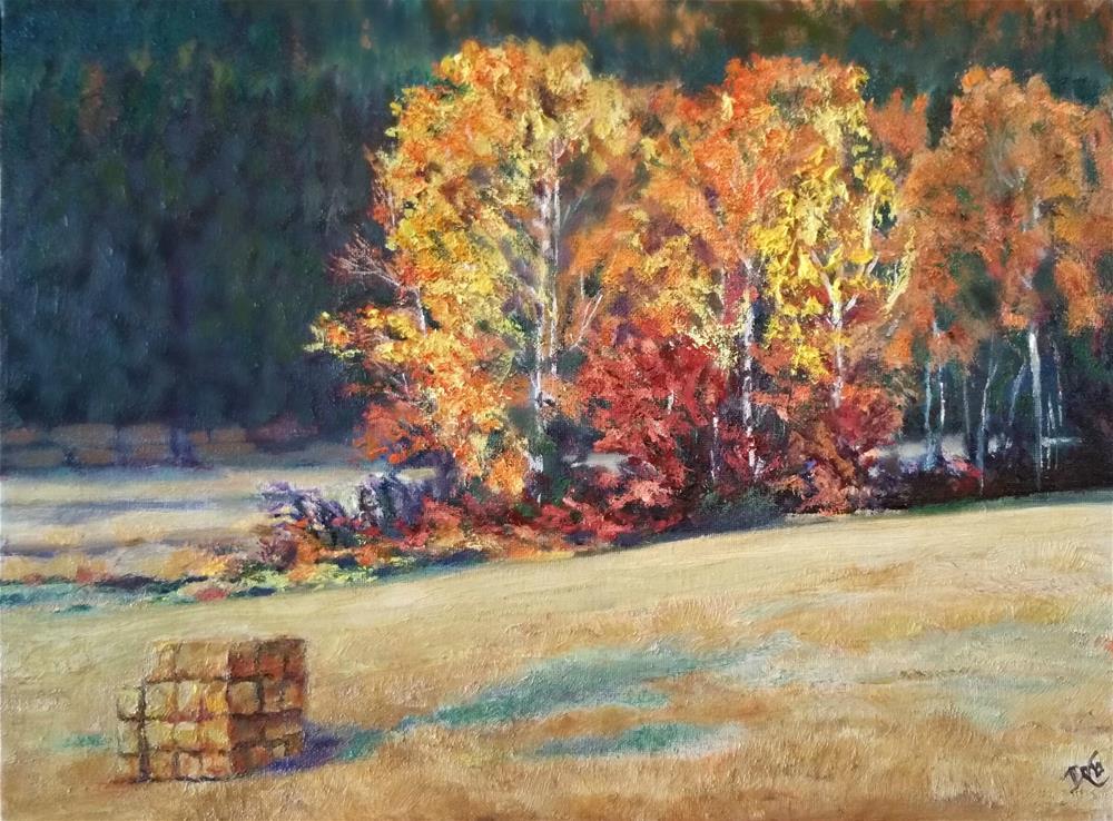 """Autumns' Wheat Field"" original fine art by Dana C"