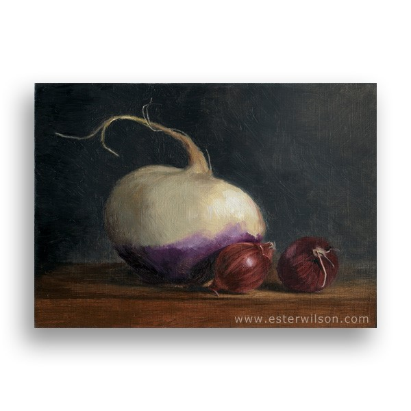 """Turnip"" original fine art by Ester Wilson"