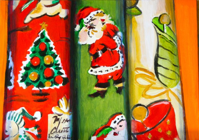 """The Christmas Rap"" original fine art by JoAnne Perez Robinson"