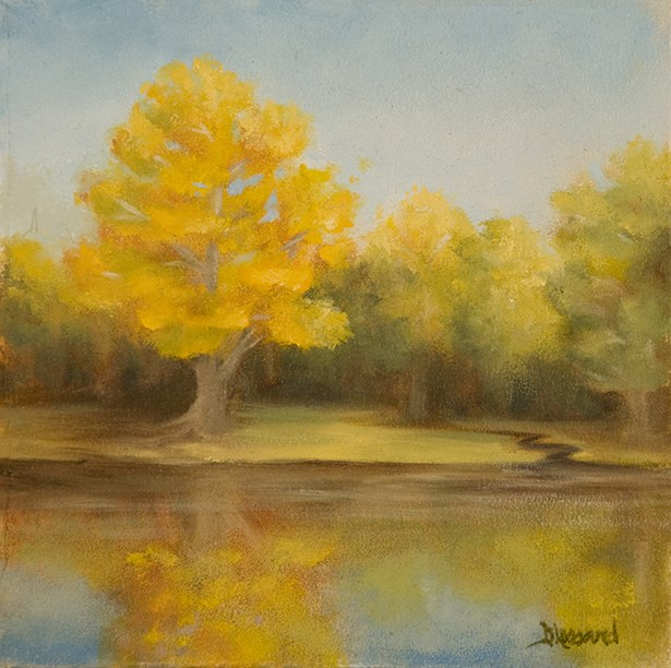 """Golden Maple-small #1313"" original fine art by Dee Lessard"
