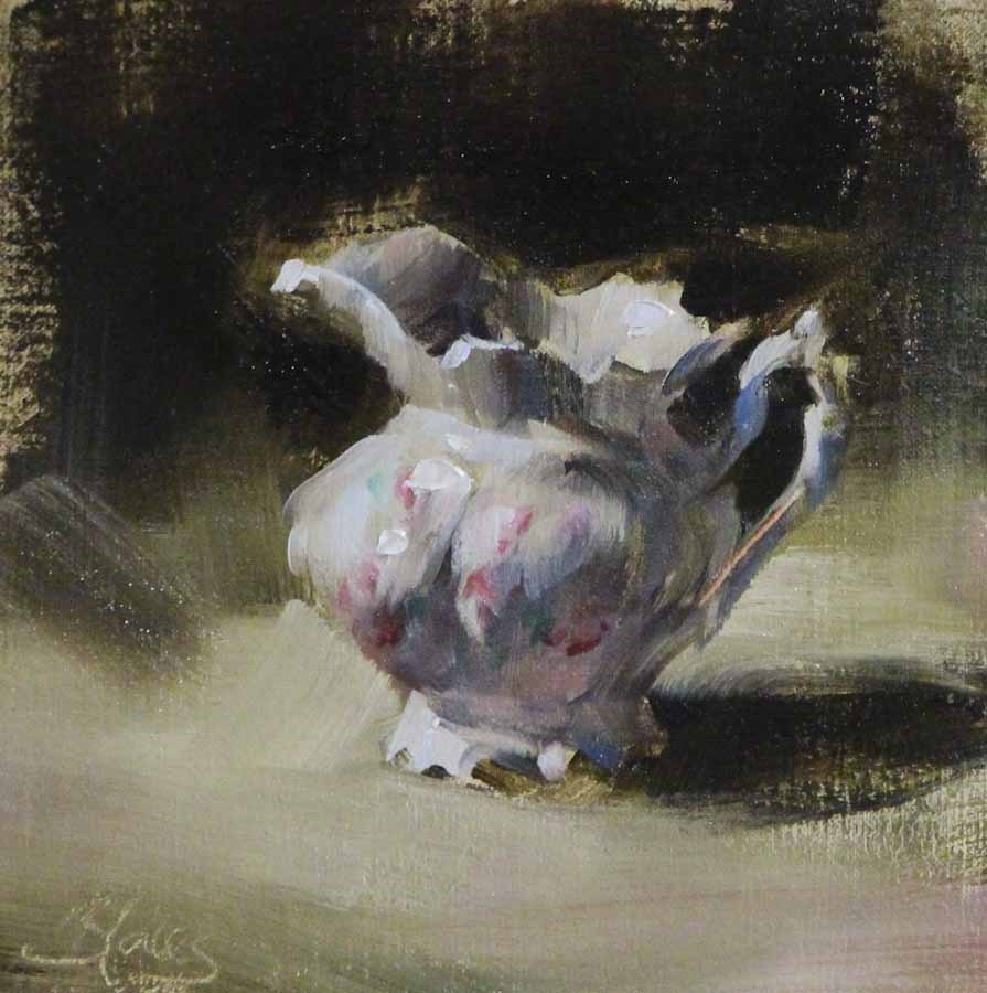 """Grandma's China Creamer"" original fine art by Pamela Blaies"