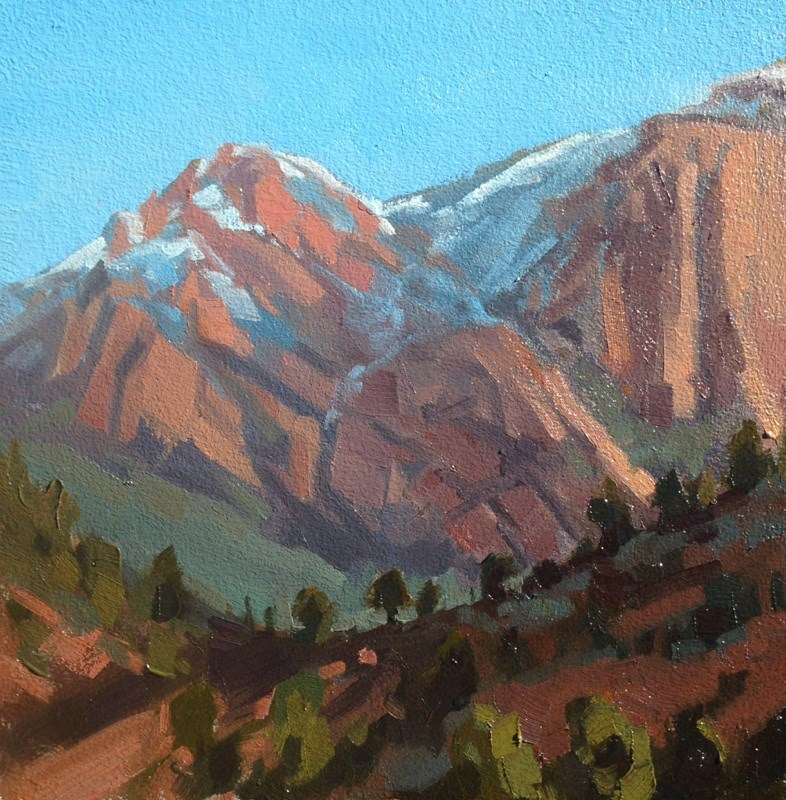"""February Morning at Kolob"" original fine art by Mary Jabens"