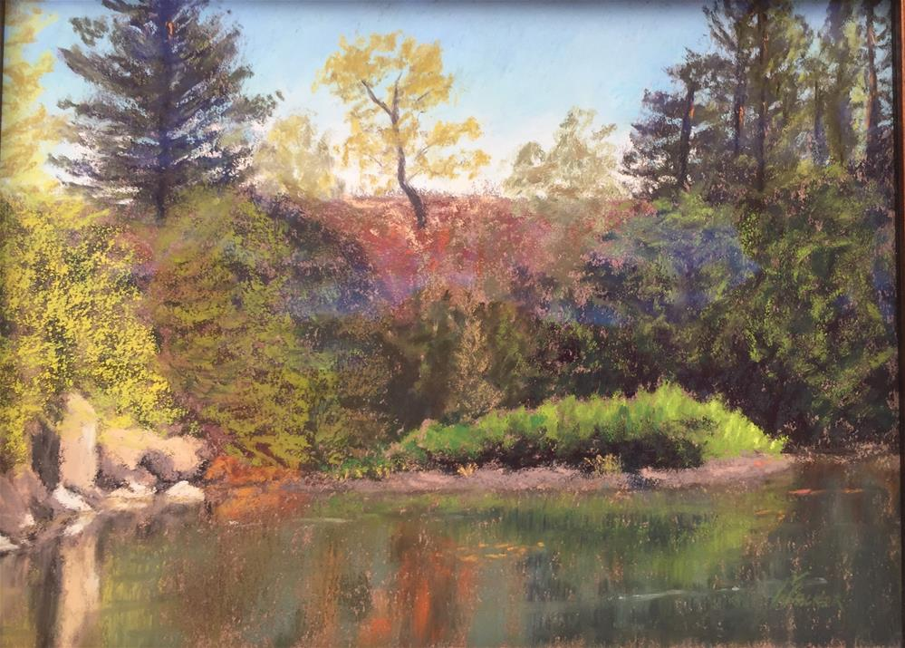 """THE MEANDERING EEL RIVER"" original fine art by Marti Walker"