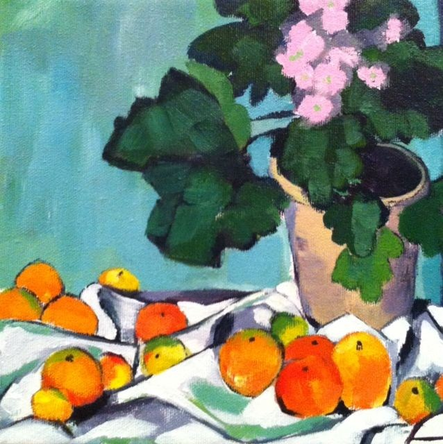"""Cezanne"" original fine art by Karen D'angeac Mihm"