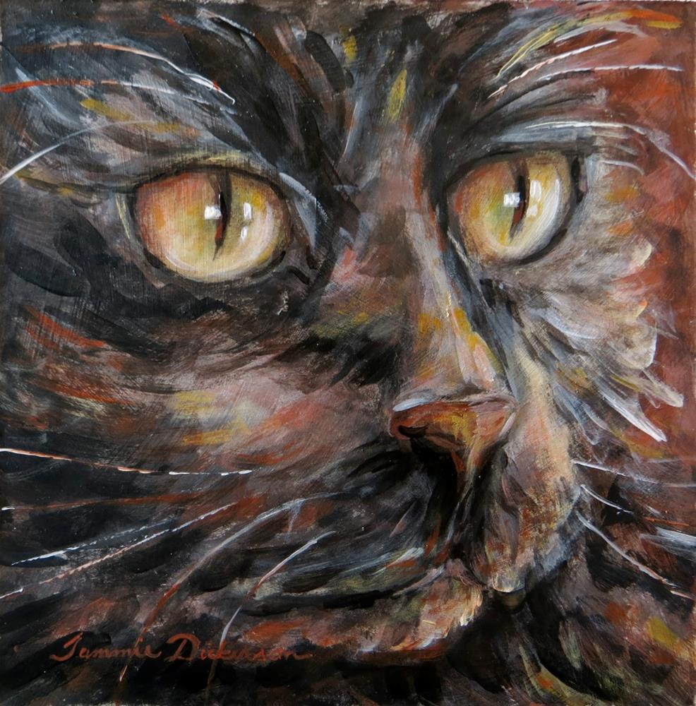 """Cat Eyes"" original fine art by Tammie Dickerson"
