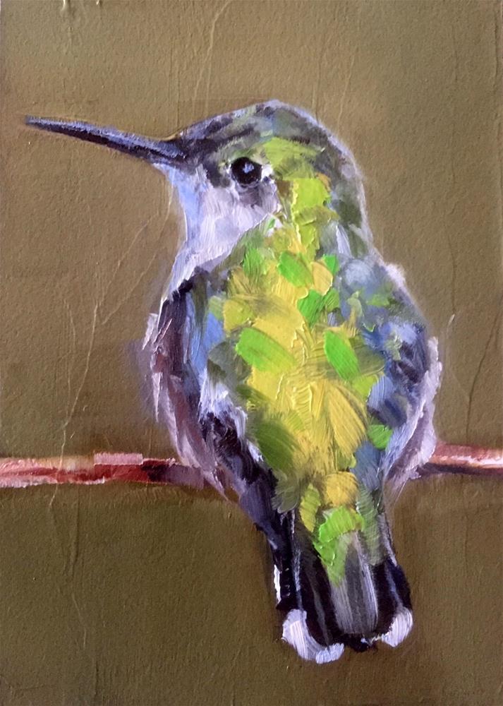 """Calliope Hummer"" original fine art by Gary Bruton"