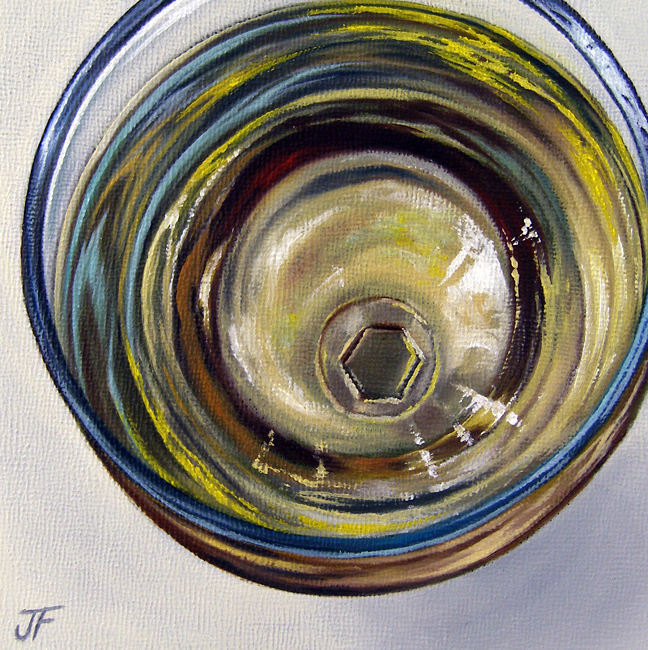 """Cocktail Study: White Wine"" original fine art by Jelaine Faunce"