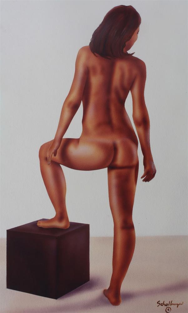 """Nude Study # 1"" original fine art by Fred Schollmeyer"