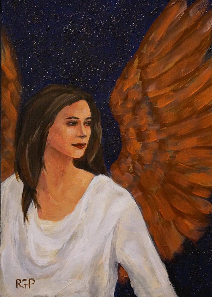 """Angels500 for Bruce"" original fine art by Rhea  Groepper Pettit"