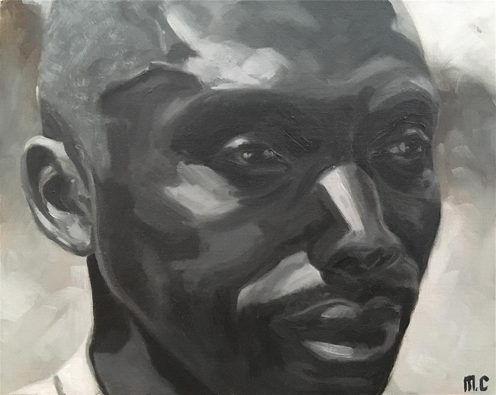 """""""Steven - Rwandan activist"""" original fine art by Monica Callaghan"""